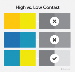 High vs low contast - Designing technology for seniors